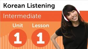 Korean Listening Comprehension for Intermediate Learners