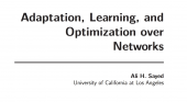 Adaptation, Learning, and Optimization over Networks
