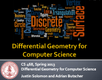 Differential Geometry for Computer Science