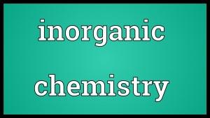 Chem 107: Inorganic Chemistry
