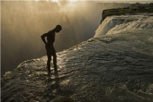 Zambia - The 355-foot (108 meter) drop of Victoria Falls just inches away
