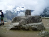 The Intihuatana, believed to have been an astronomic clock or calendar by the Incas