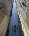 A replica of Argo, in the Corinth canal in Korinthos