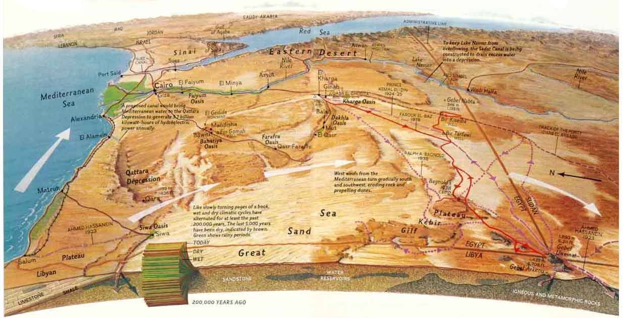 Map Of Western Sahara Desert CosmoLearning History - Map of egypt national geographic