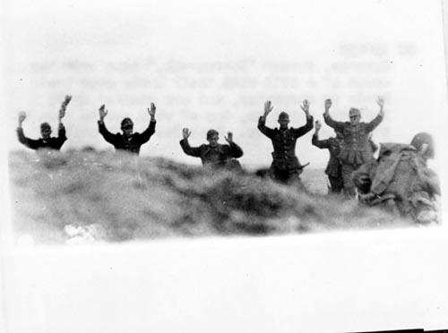 German troops surrender to Soldiers during the Allied Invasion of Europe, D-Day, June 6, 1944.Source: www.army.mil