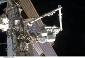 Space Station Remote Manipulator System mates the ELC to the Zenith / Outboard PAS