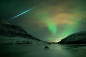 Astronomy Picture of the Day: Aurora Shimmer, Meteor Flash