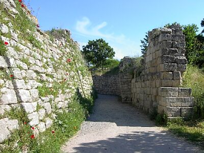 Portion of the legendary walls of Troy (VII), identified as the site of the Trojan War (ca. 1200 BCE)  Source: Wikipedia