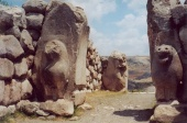 Hitite Lion Gate at Hattusa, Turkey