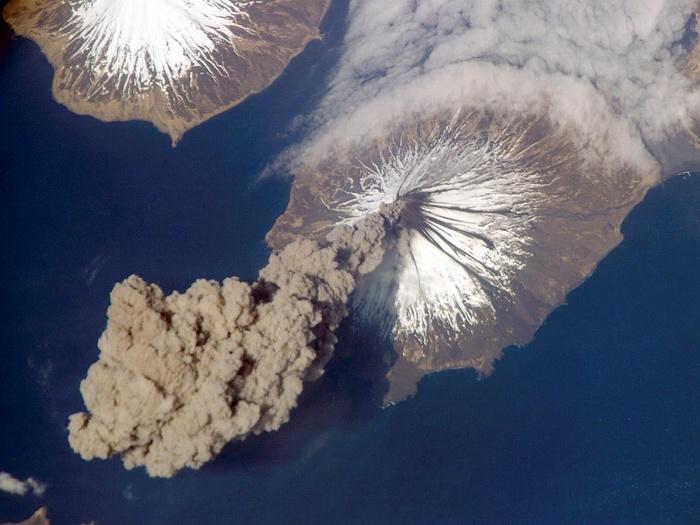 NASA - Cleveland Volcano, Aleutian Islands