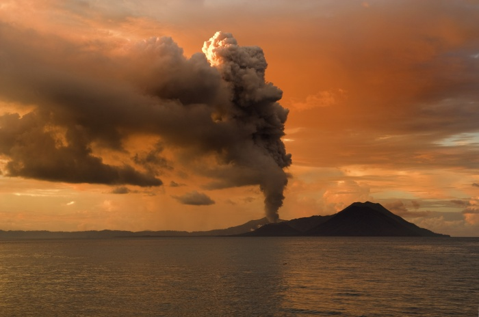 Tavurvur, active stratovolcano in Papua New Guinea. Image by Taro Taylor
