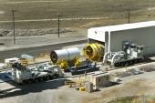 NASA moves segments of the second Ares I rocket's DM-2 (April 2010)