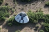 Pad Abort-1 Crew Module post landing scene was captured by an aerial source on May 6, 2010