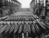 84 midget Japanese subs in a drydock at Kure Naval Base (Oct 19, 1945)