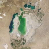 Aral sea in 2003