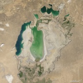Aral sea in 2004