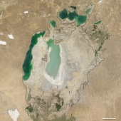 Aral sea in 2007