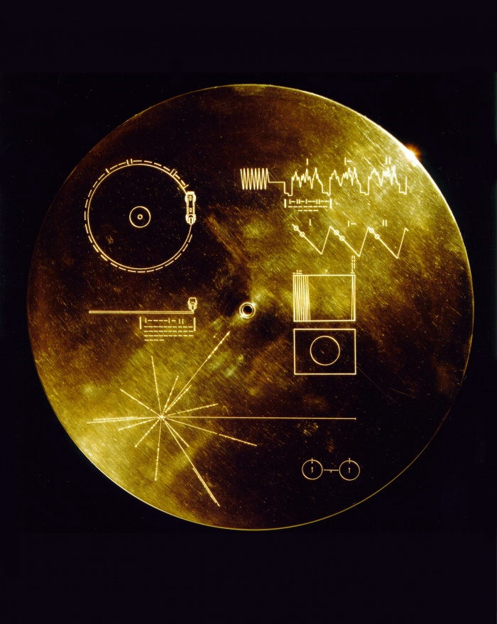 This gold aluminum cover was designed to protect the Voyager 1 and 2