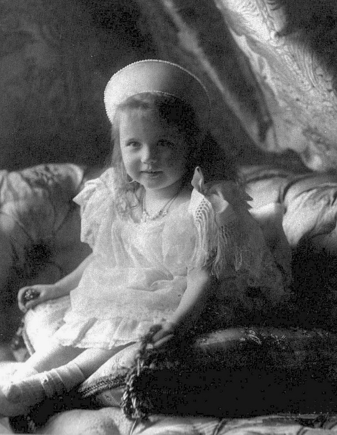 Photo of Grand Duchess Anastasia Nikolaevna of Russia, taken in 1904, reproduced on post cards prior to World War I.