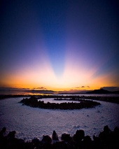 Astronomy Picture of the Day: Sunset at the Spiral Jetty