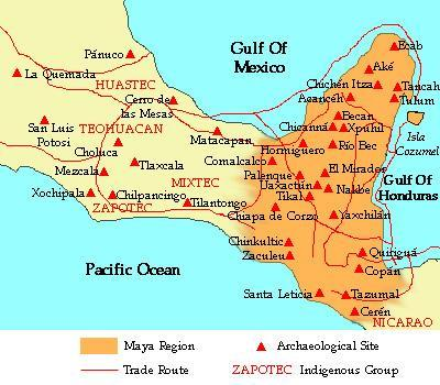 Maya World Map.Maya Classical Period 250 A D To 900 A D Cosmolearning Archaeology