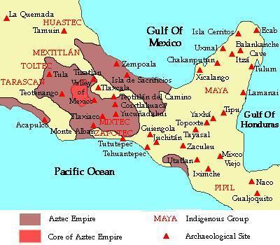 Maya World Map.Maya Map Of Postclassical Period 900 Ad 1521 Ad Cosmolearning
