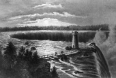 Tesla Files: Niagara Falls, from Goat Island, circa 1867
