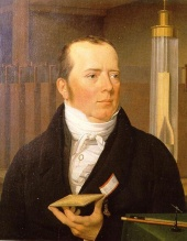 A younger Hans Christian Oersted, painted in the 19th century