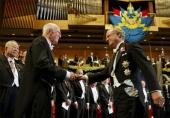 Ray Davis in Stockholm,  accepting the Nobel Prize