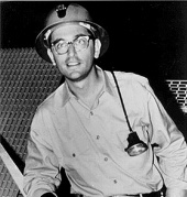 John Bahcall in the Homestake gold mine in South Dakota (1964)