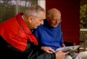 John Bahcall (left) visits Ray Davis at his home (2003)