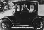 U.S. President Dwight D. Eisenhower in a 1914 Rauch and Lang Electric (1952)