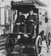 U.S. President McKinley's last ride (electric ambulance)