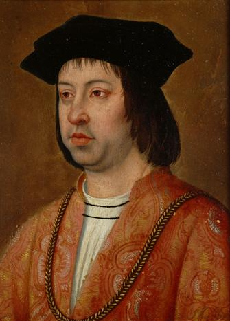Ferdinand the Catholic (March 10, 1452 - January 23, 1516) King of Aragon (1479–1516), Sicily (1468–1516), Naples (1504–1516), Valencia, Sardinia, and Navarre, Count of Barcelona, King of Castile (1474-1504) and then Regent of that country also from 1508 to his death, in the name of his mentally unstable daughter Joanna the Mad.