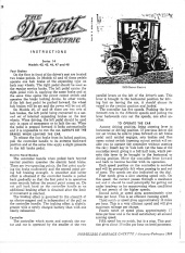 Detroit Electric (Anderson electric car): Operating Instructions