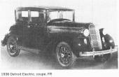 Detroit Electric (Anderson electric car): 1936 Detroit Electric Coupe