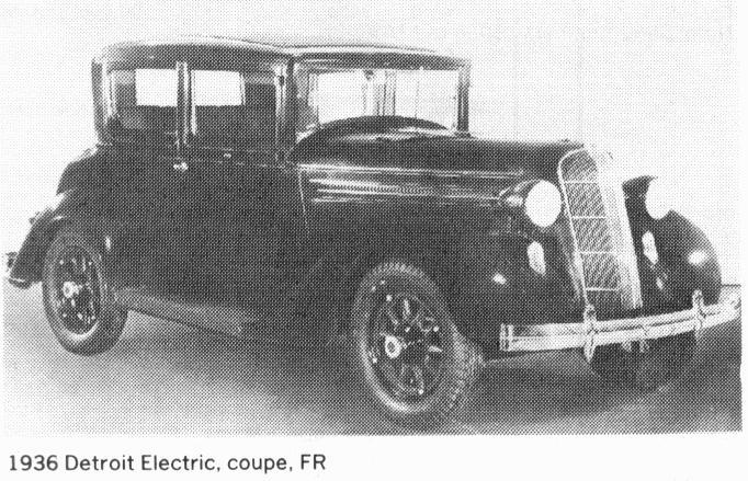 Detroit Electric (Anderson electric car): 1936 Detroit Electric ...