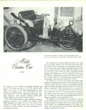 The 1900 Milde Electric Car (3-Wheeler)