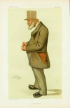 James Edwin Thorold Rogers (1823 - 1890). caricature by Leslie Ward from Vanity Fair