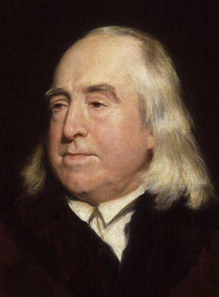 Jeremy Bentham (1748-1832) was perhaps the most radical thinker of his time, and developed the concept of utilitarianism. Bentham was an atheist, a prison reformer, animal rights activist, believer in universal suffrage, free speech, free trade and health insurance at a time when few dared to argue for any. He was schooled rigorously from an early age, finishing university and being called to the bar at 18. His first book, Fragment of Government (1776) published anonymously was a trenchant critique of William Blackstone's Commentaries of the laws of England. This gained wide success until it was found that the young Bentham, and not a revered Professor had penned it. In The Principles of Morals and Legislation (1791) Bentham set out his theory of utility.[28]