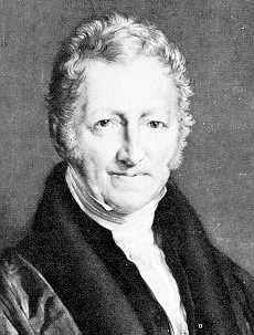 Thomas Malthus (1766-1834) was a Tory minister in the United Kingdom Parliament who, contrasting to Bentham, believed in strict government abstention from social ills.