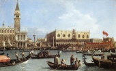 Return of the Bucintoro to the Molo on Ascension Day by Canaletto, 1732
