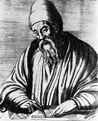 Euclid, Greek geometer, circa 300 B.C.
