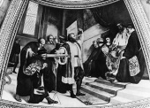 Galileo's Life, 1609: demonstrating his compass to the Venetian senate