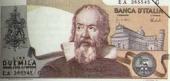 Galileo on an Italian bank note