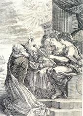 Galileo Galilei showing medicean planets
