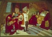Galileo presents the telescope to the Venezian senate