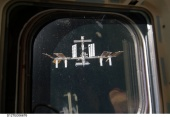 ISS at Endeavour's window