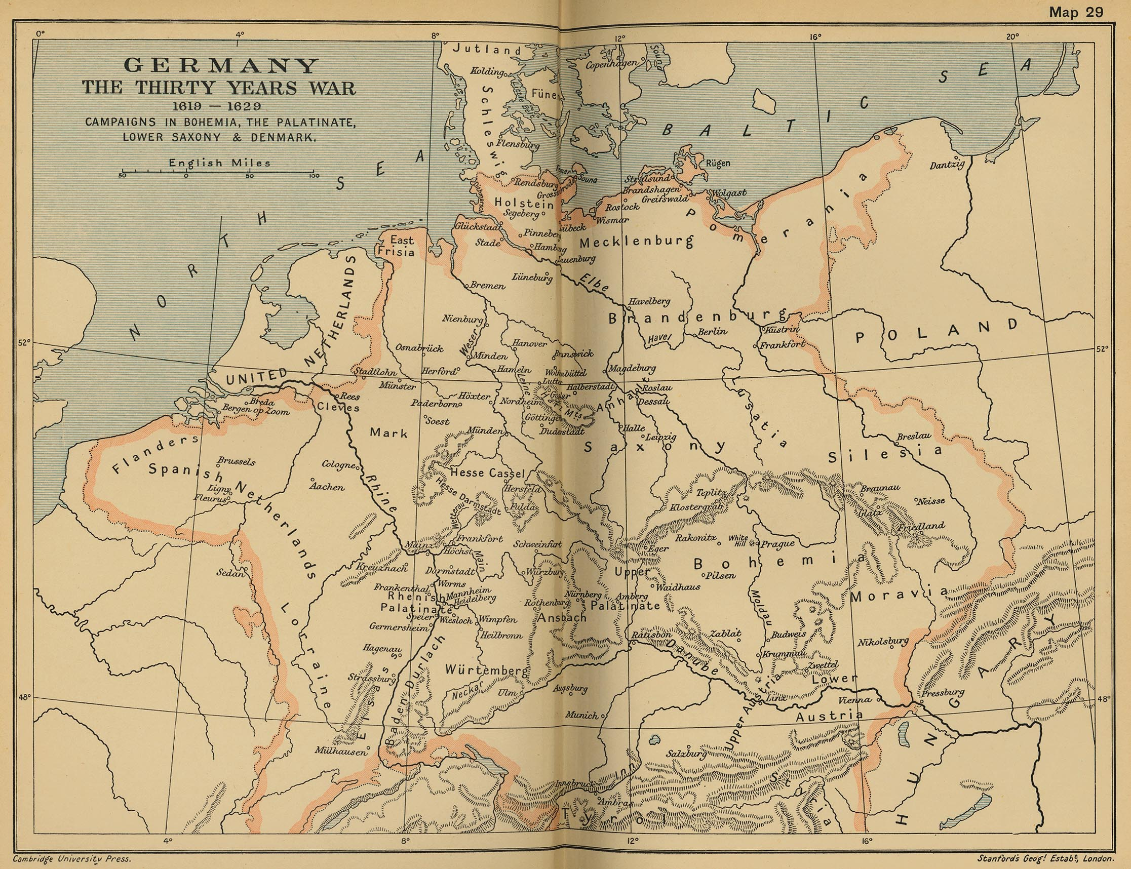 Germany: The Thirty Years' War,1619-1629. Campaigns in Bohemia,