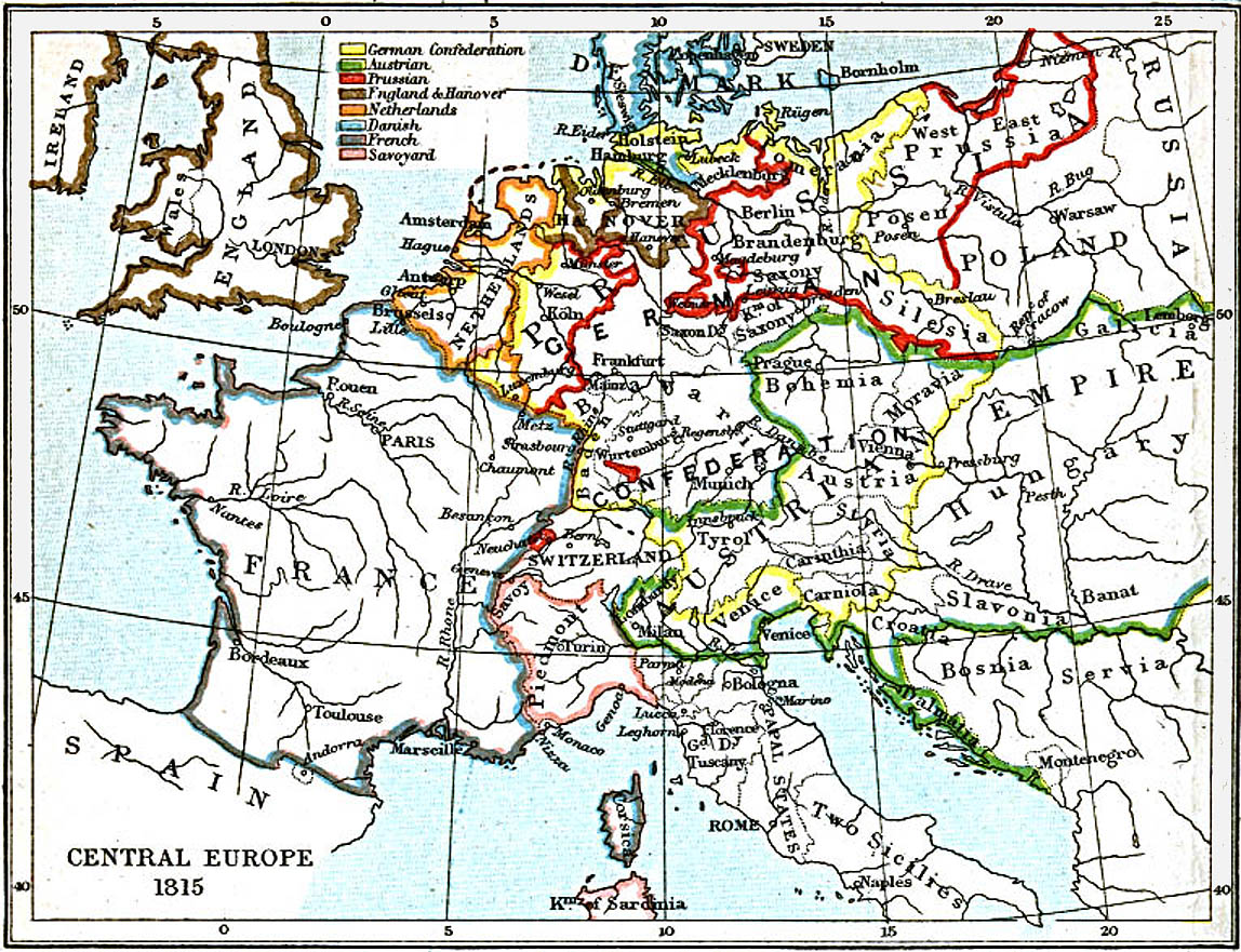Central Europe (1815 A.D.) | CosmoLearning History
